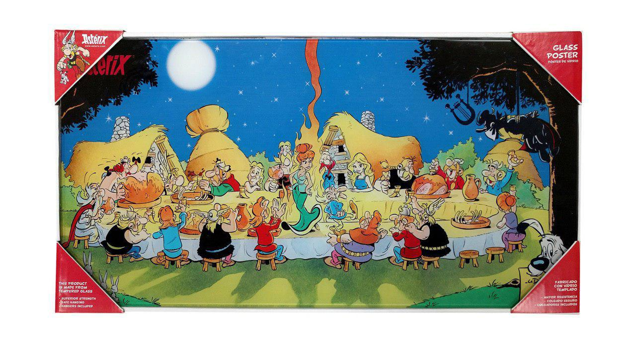 Asterix Glass Poster Characters 60 x 30 cm