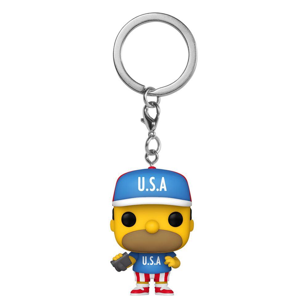Simpsons Pocket POP! Vinyl Keychains 4 cm USA Homer Display (12)