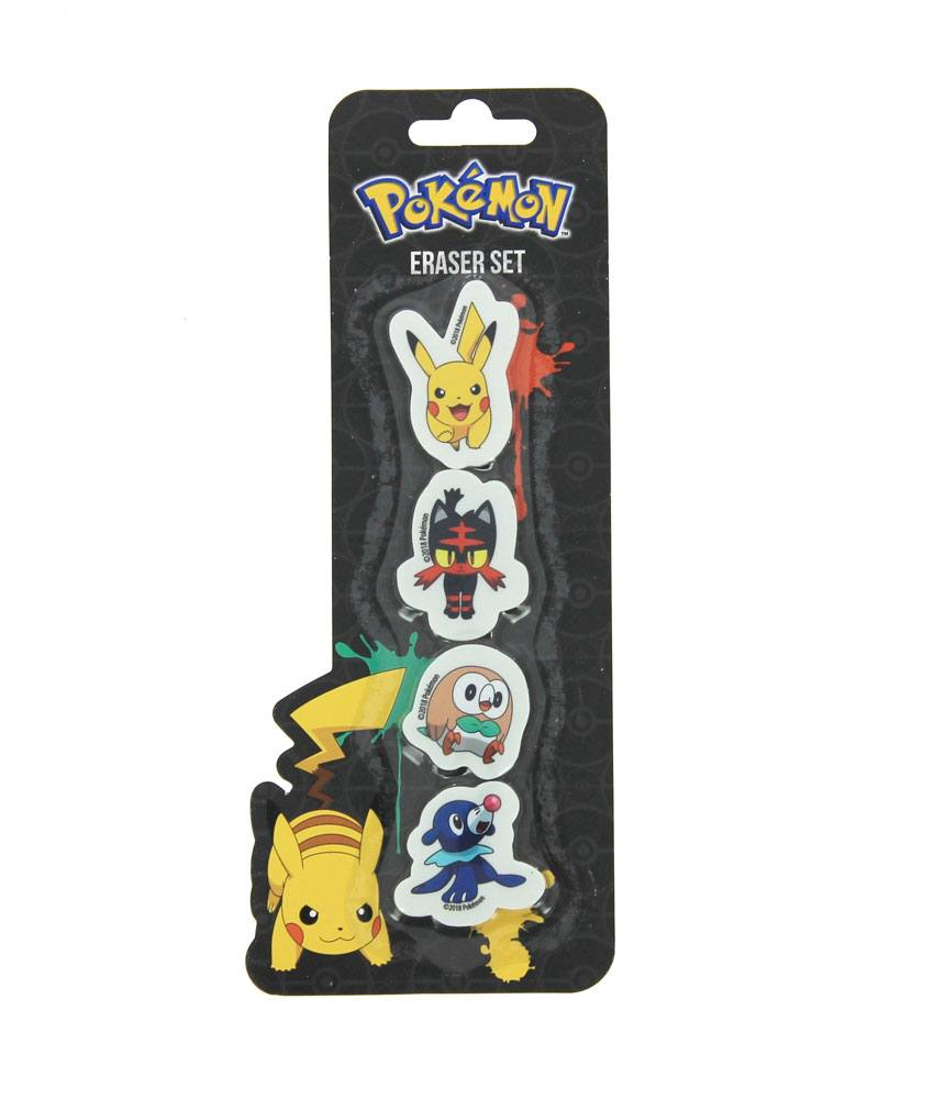 Pokemon Erasers 4-Pack