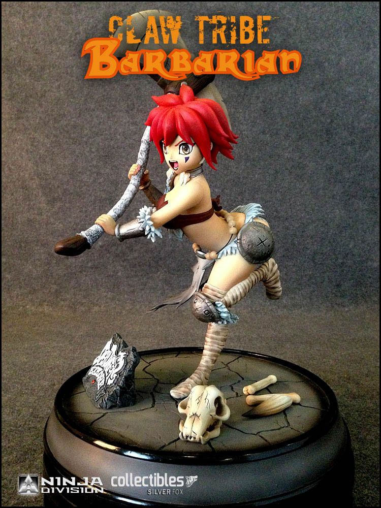Super Dungeon Explore Statue Claw Tribe Barbarian 31 cm