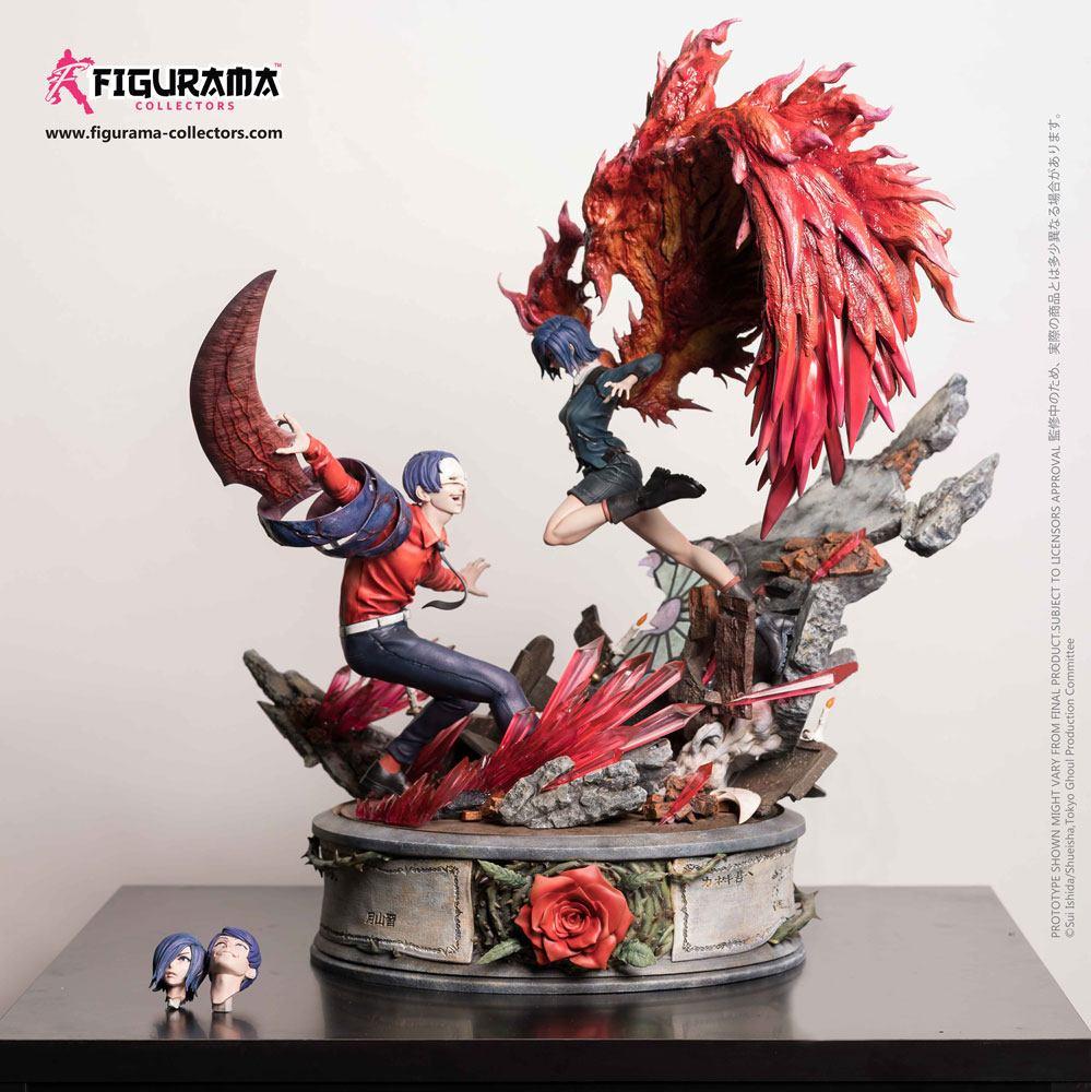 Tokyo Ghoul Elite Fandom Diorama 1/6 Touka vs Tsukiyama 54 cm