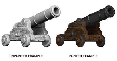 WizKids Deep Cuts Unpainted Miniature Cannons Case (6)