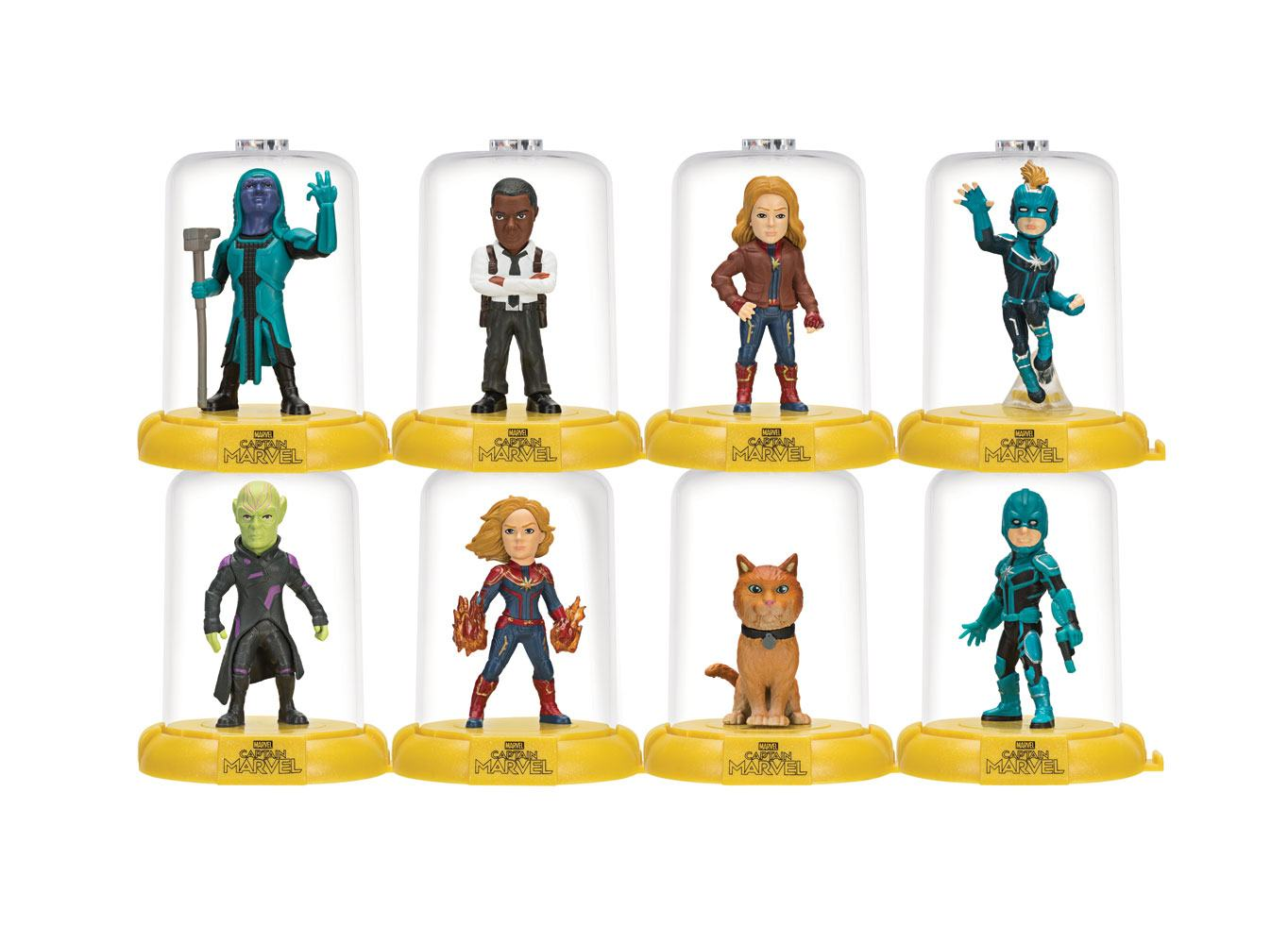 Captain Marvel Domez Mini Figures 7 cm Series 1 Display (24)