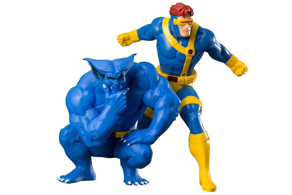 Marvel Universe ARTFX+ Statue 1/10 2-Pack Cyclops & Beast (X-Men '92) 16 cm