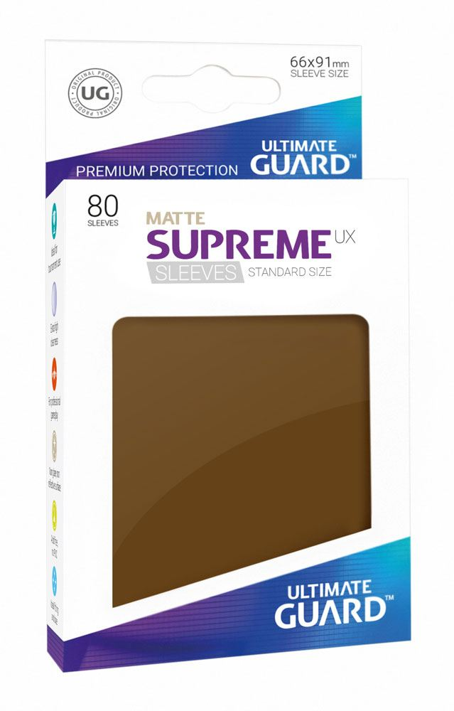 Ultimate Guard Supreme UX Sleeves Standard Size Matte Brown (80)