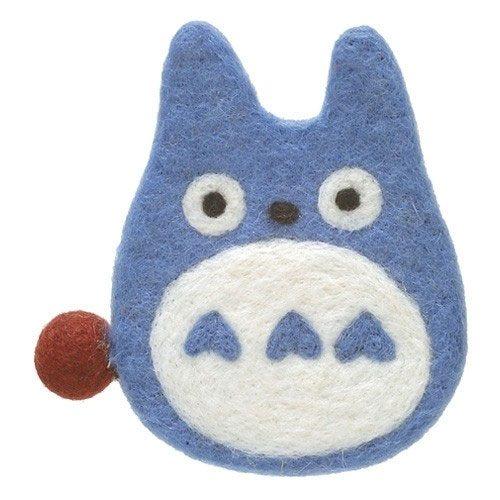 My Neighbor Totoro Woolen Coaster Totoro blue