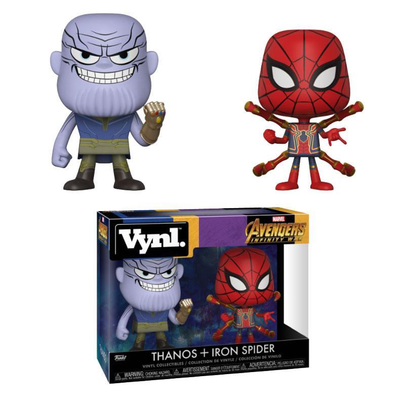 Avengers Infinity War VYNL Vinyl Figures 2-Pack Thanos & Iron Spider 10 cm