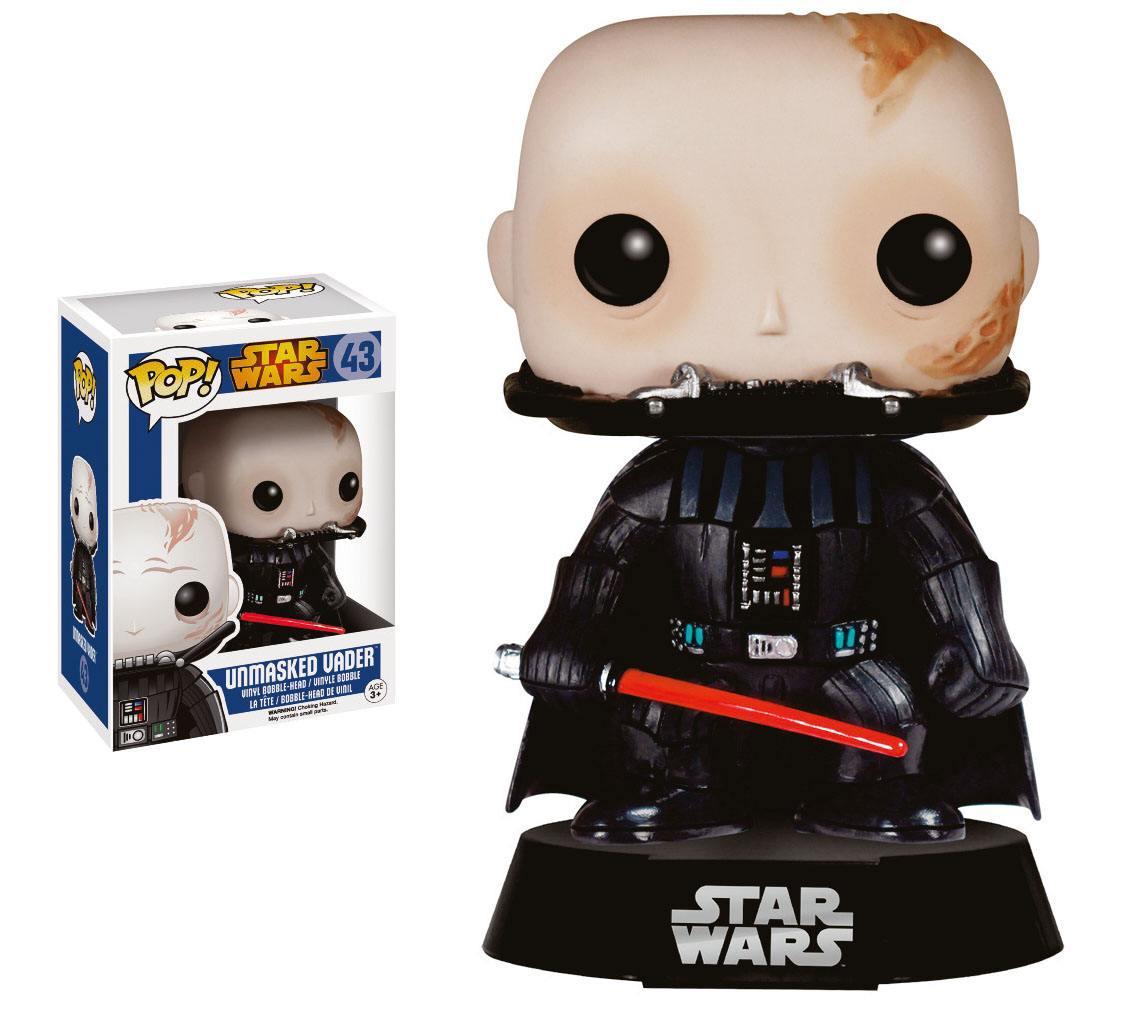 Star Wars POP! Vinyl Bobble-Head Figure Unmasked Darth Vader 9 cm