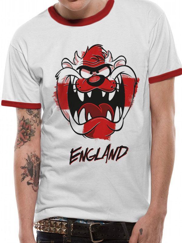 Looney Tunes T-Shirt England Taz Size S