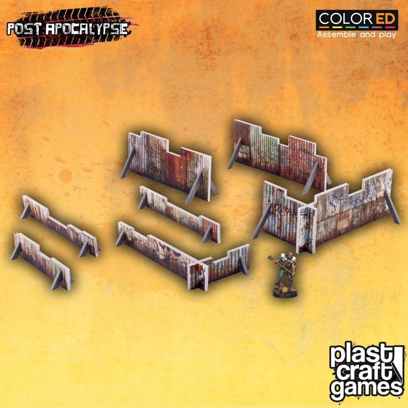 Post Apocalypse ColorED Miniature Gaming Model Kit 28 mm Rusty Barricades