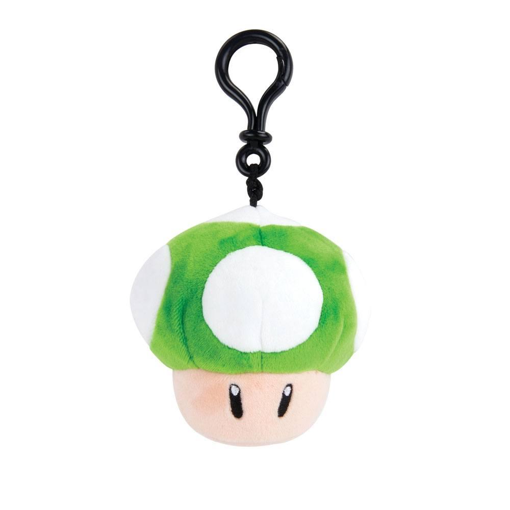Mario Kart Mocchi-Mocchi Clip On Plush Hanger 1-Up Mushroom 10 cm
