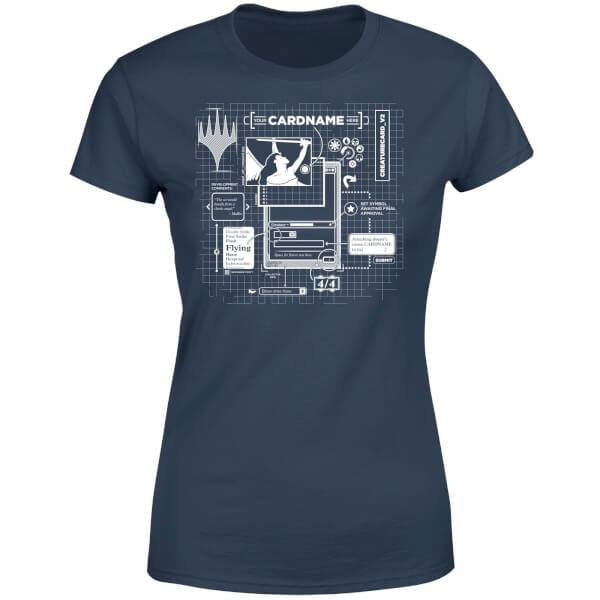 Magic the Gathering Ladies T-Shirt Card Grid Size S