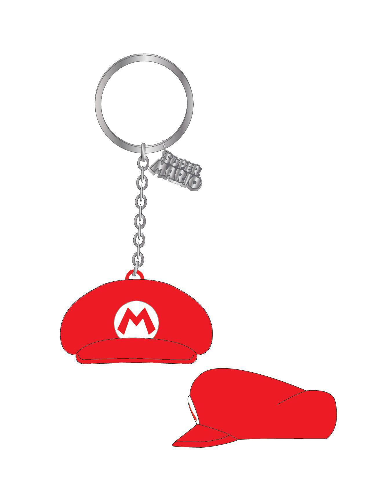 Nintendo Rubber Keychain Mario Hat 7 cm