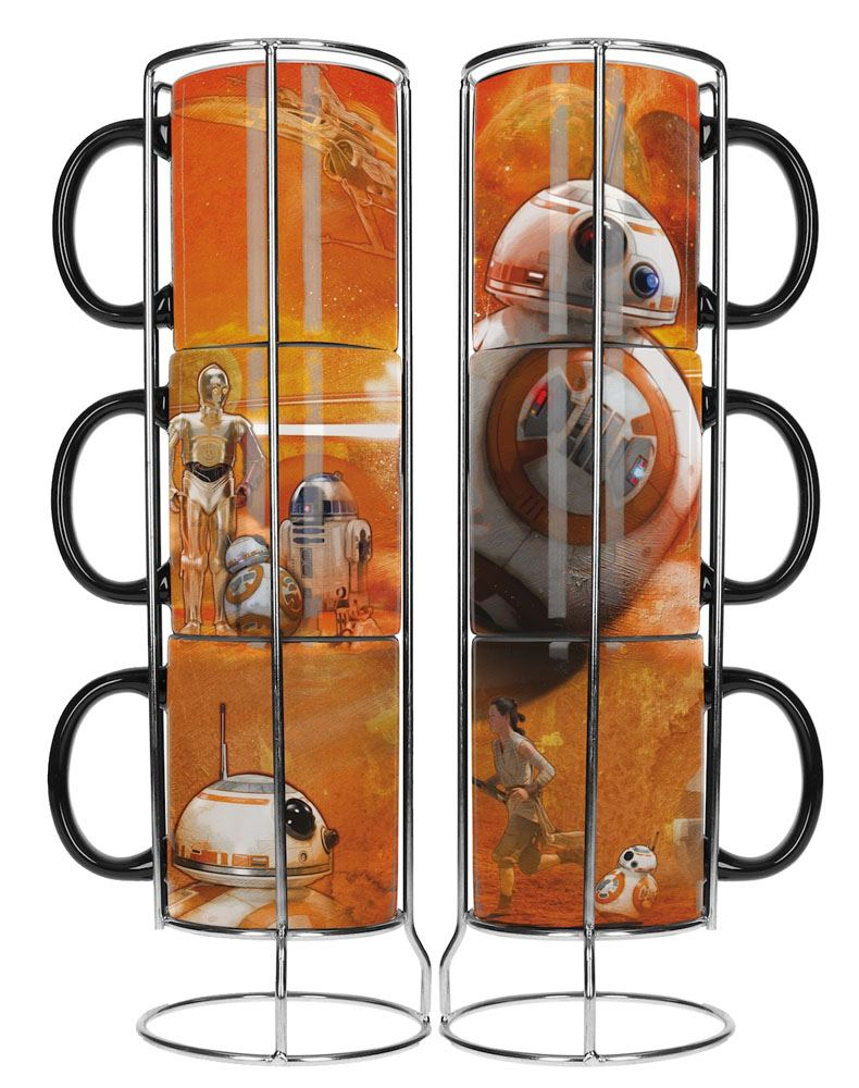 Star Wars Episode VII Stackable Mugs Set BB-8 Droids