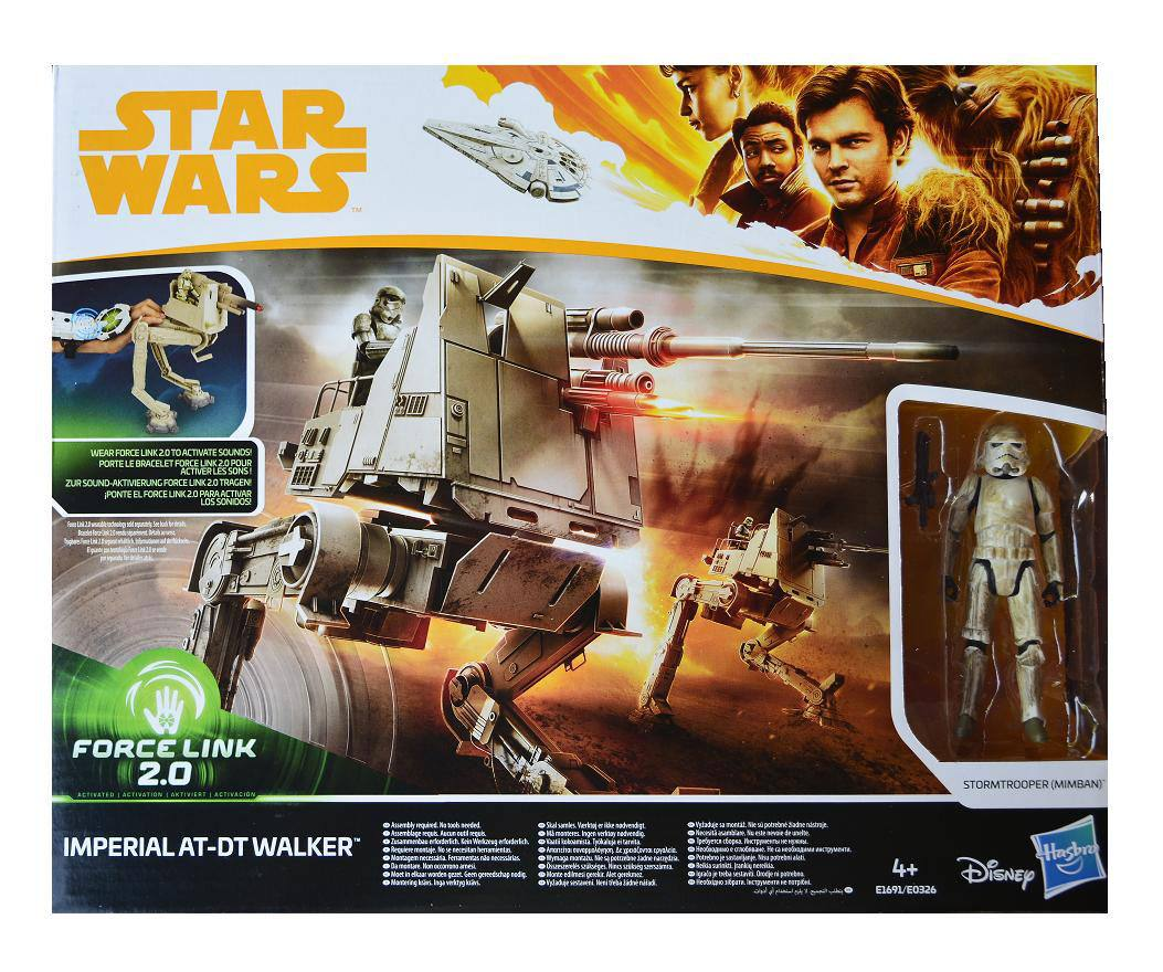 Star Wars Solo Force Link 2.0 Class B Vehicle with Figure 2018 Imperial AT-DT Walker
