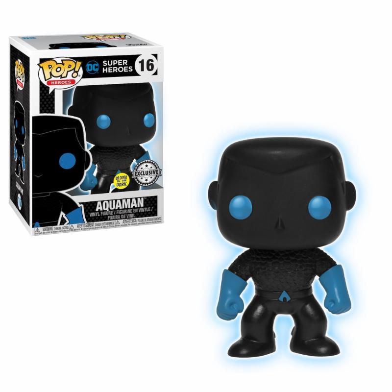 Justice League Movie POP! Movies Vinyl Figure Aquaman Silhouette GITD 9 cm