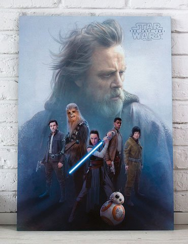 Star Wars Episode VIII Glass Poster Resistance Group 40 x 30 cm