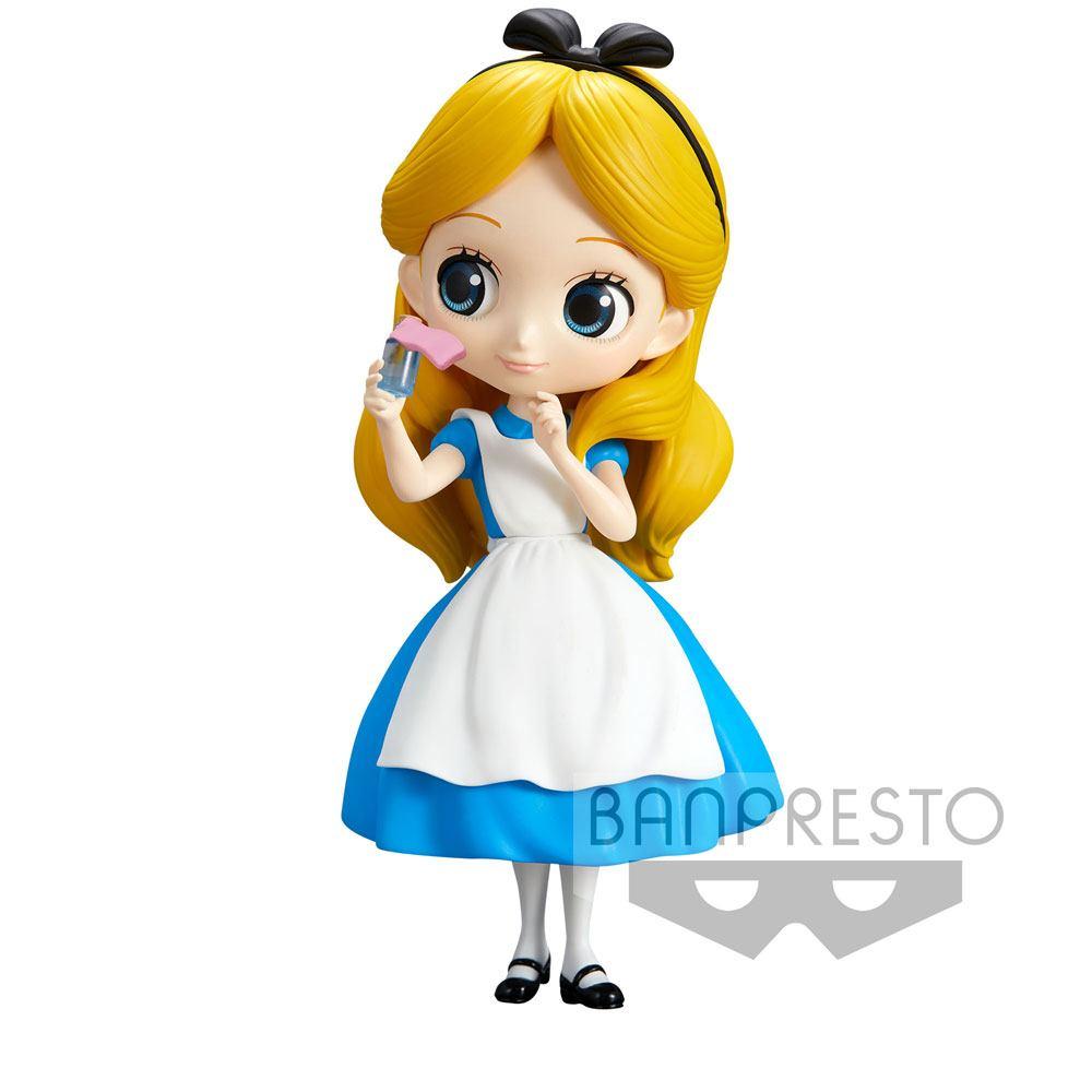 Disney Q Posket Mini Figure Alice Thinking Time Normal Color Ver. 14 cm
