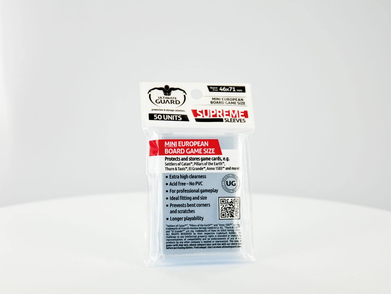 Ultimate Guard Supreme Sleeves for Board Game Cards Mini European (50)