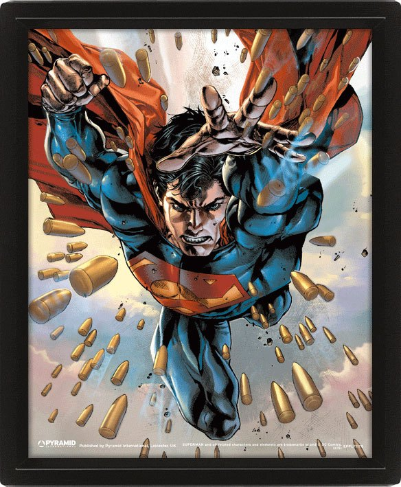 Superman Framed 3D Effect Poster Pack Bullets 26 x 20 cm (3)