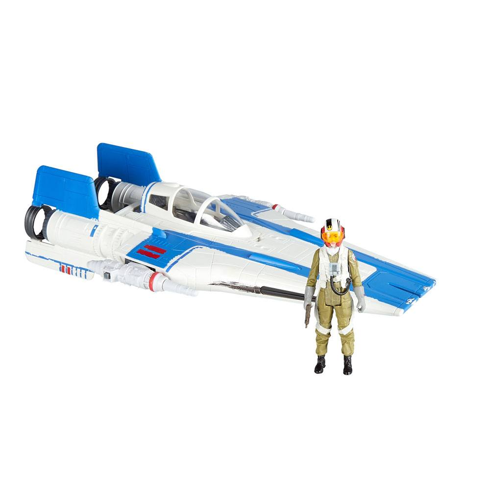 Star Wars Episode VIII Force Link 2.0 Class B Vehicle with Figure 2018 Resistance A-Wing Fighter