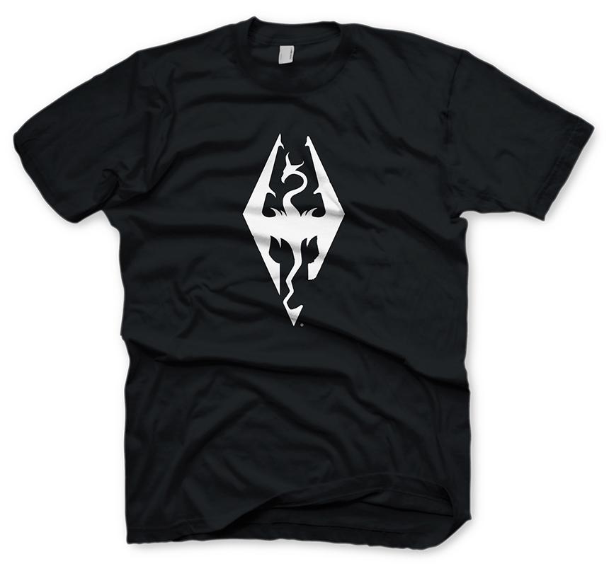 The Elder Scrolls V Skyrim T-Shirt Dragon Symbol Size S