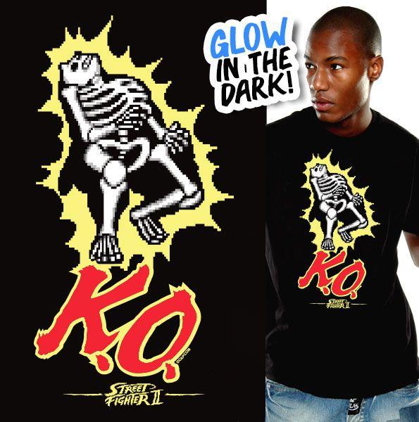 Street Fighter T-Shirt K.O. Size XL