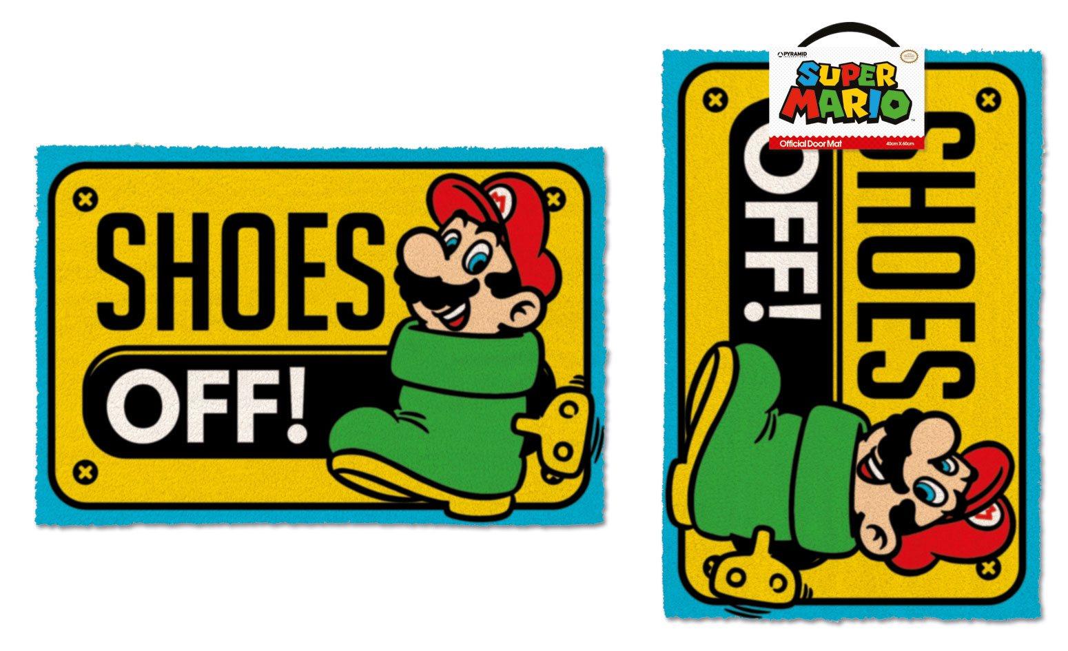 Super Mario Doormat Shoes Off 40 x 60 cm