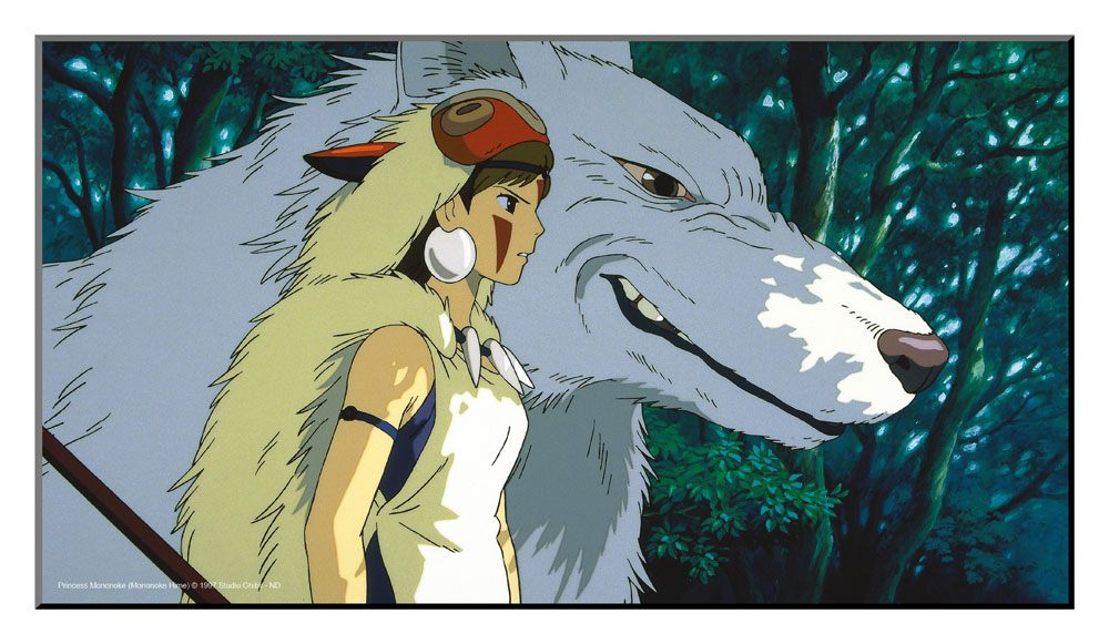 Studio Ghibli Wooden Wall Art Princess Mononoke 37,5 x 20,5 cm