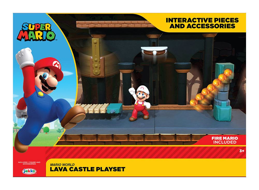 World of Nintendo Super Mario Playset Lava Castle