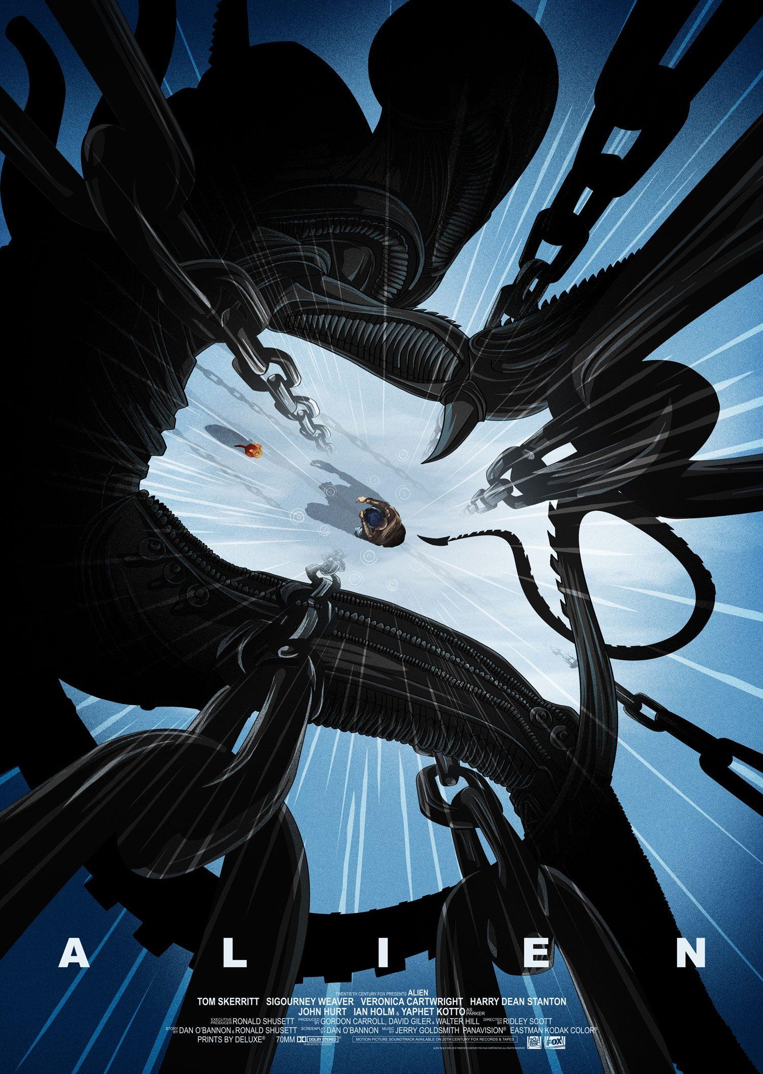 Alien Art Print Attack 42 x 30 cm