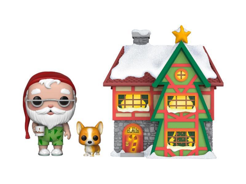 Funko Christmas Village POP! Town Vinyl Figure Santas House w/Santa & Nutmeg 9 cm