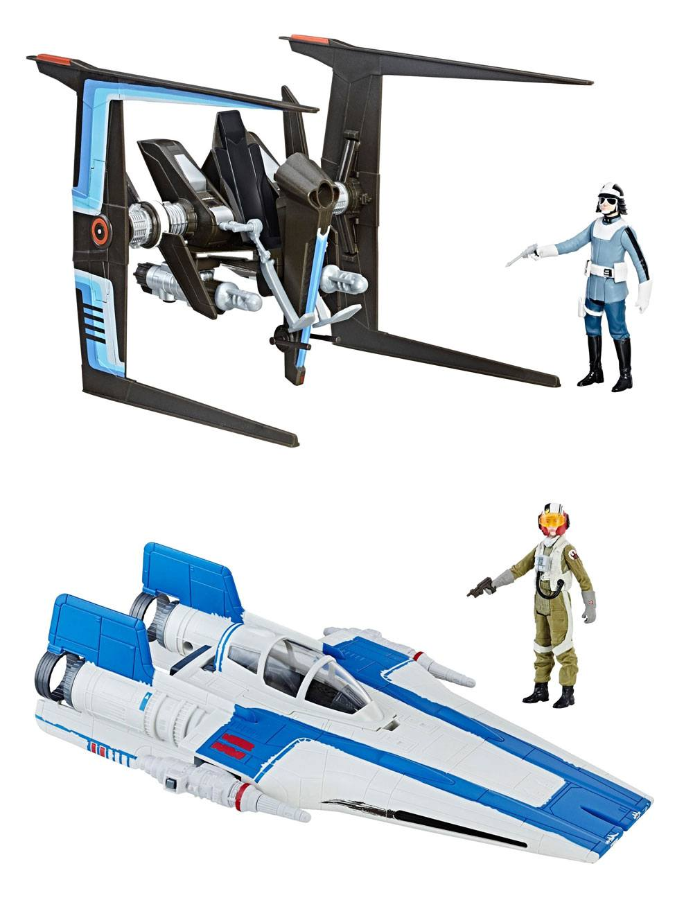 Star Wars Episode VIII Force Link Class B Vehicles with Figures 2017 Wave 1 Assortment (3) --- DAMAGED PACKAGING