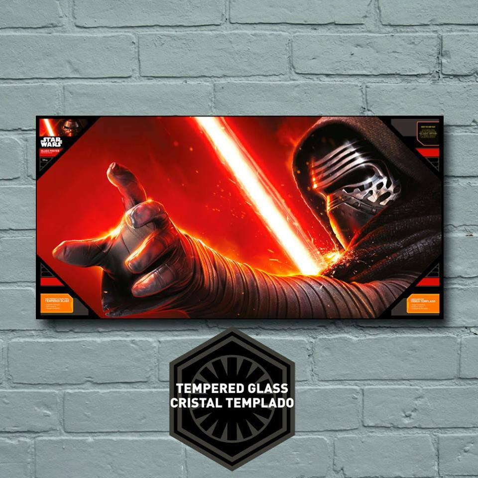 Star Wars Episode VII Glass Poster Kylo Ren 50 x 25 cm