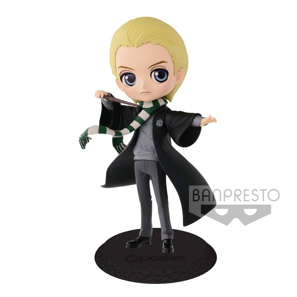 Harry Potter Q Posket Mini Figure Draco Malfoy A Normal Color Version 14 cm