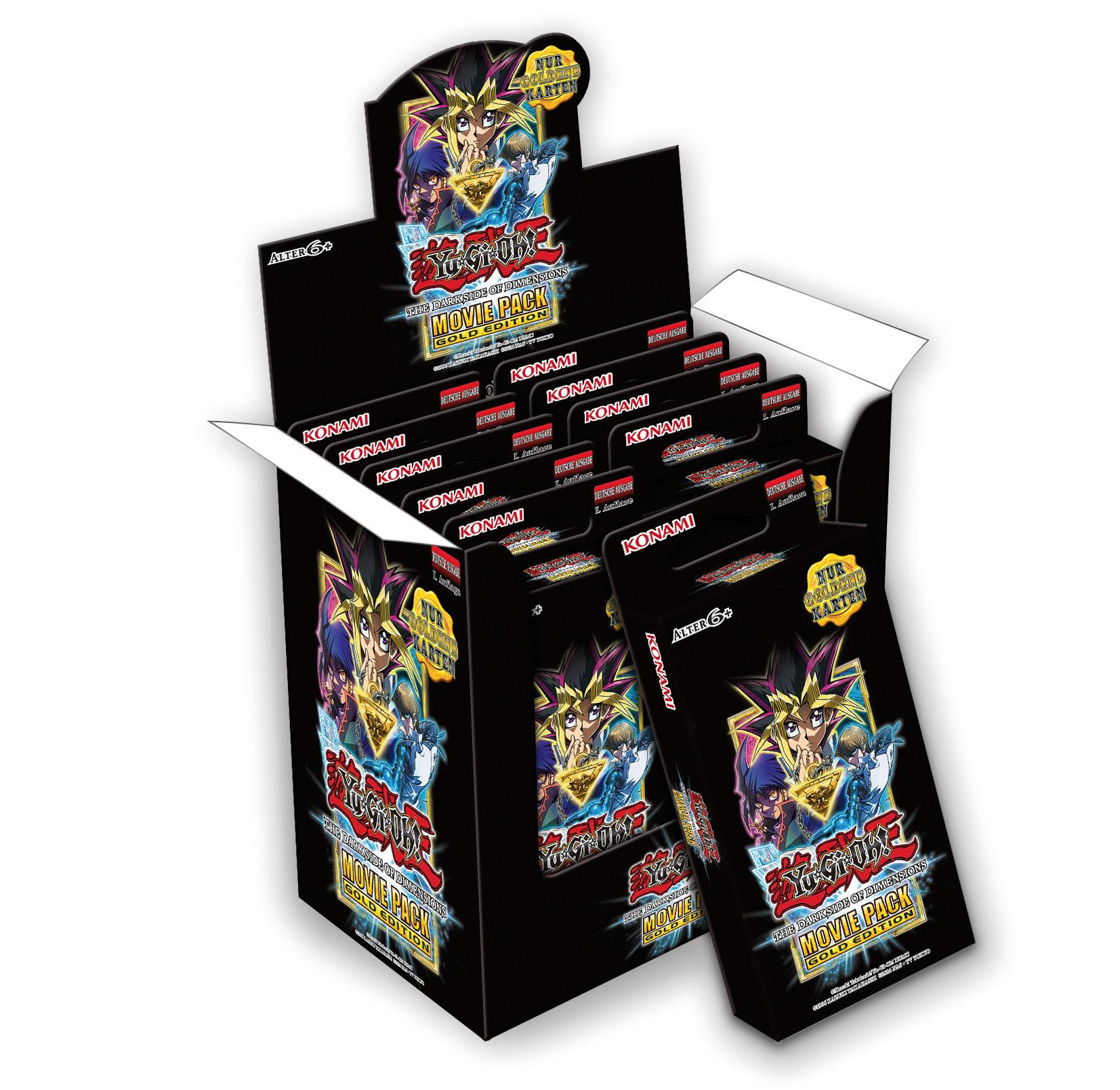 Yu-Gi-Oh! Movie Pack Gold Edition Box Display (10) *German Version*