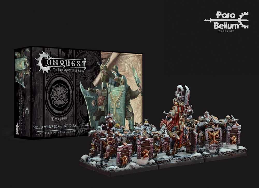 Conquest: The Last Argument of Kings Miniatures 12-Pack Dweghom: Hold Warriors - Hold Ballistae