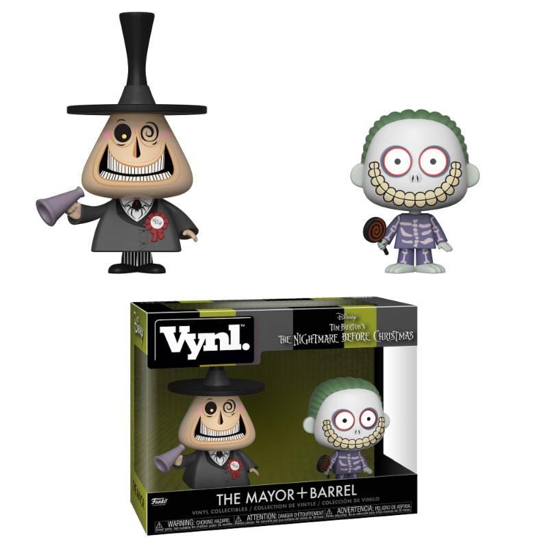 Nightmare Before Christmas VYNL Vinyl Figures 2-Pack Mayor & Barrel 10 cm
