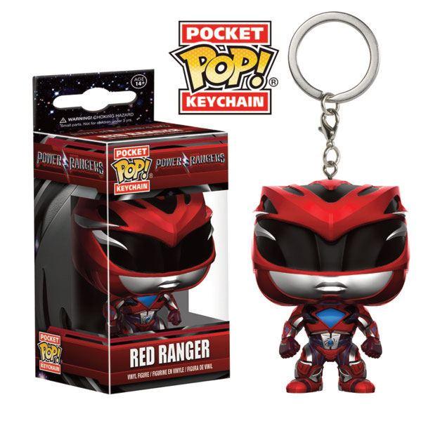 Power Rangers Pocket POP! Vinyl Keychain Red Ranger 4 cm