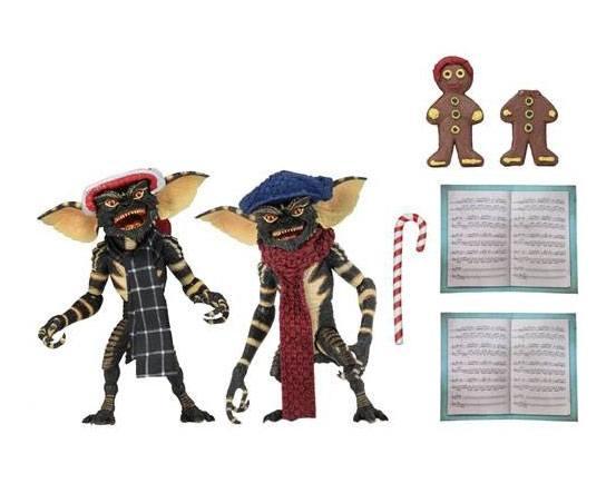 Gremlins Action Figure 2-Pack Christmas Carol Winter Scene Set 1 15 cm