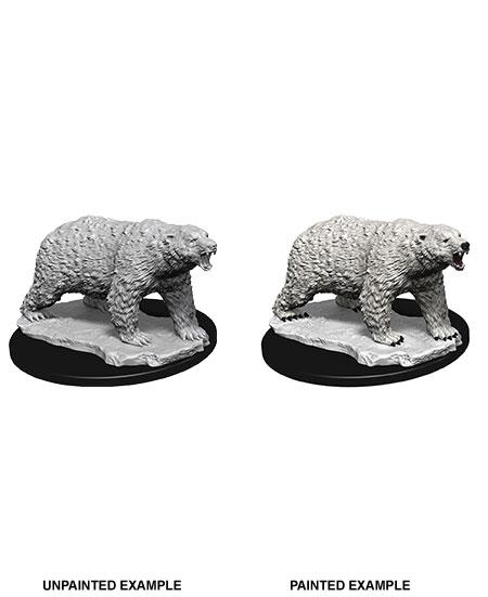 WizKids Deep Cuts Unpainted Miniature Polar Bear Case (6)