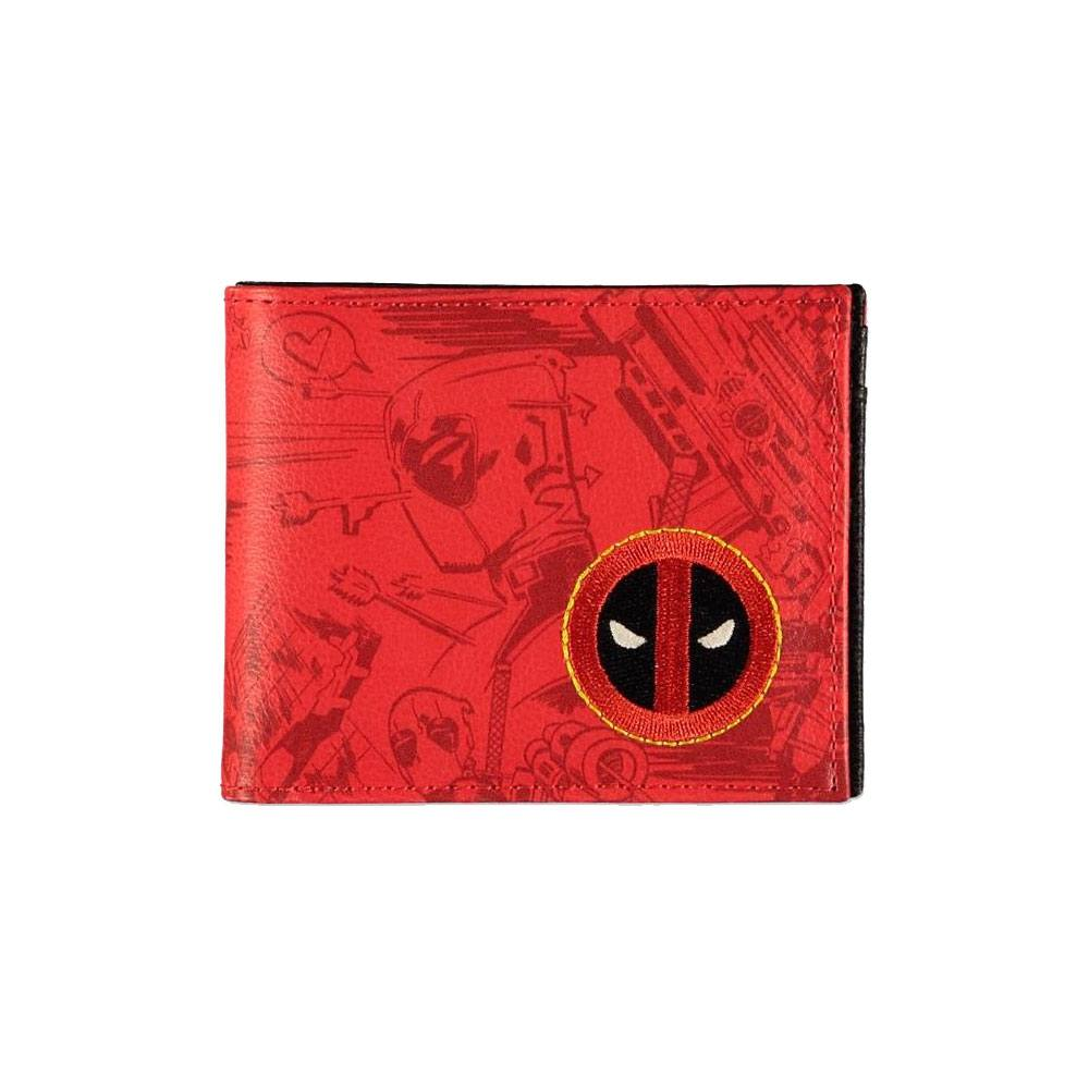 Difuzed Deadpool Bifold Wallet Grafitti