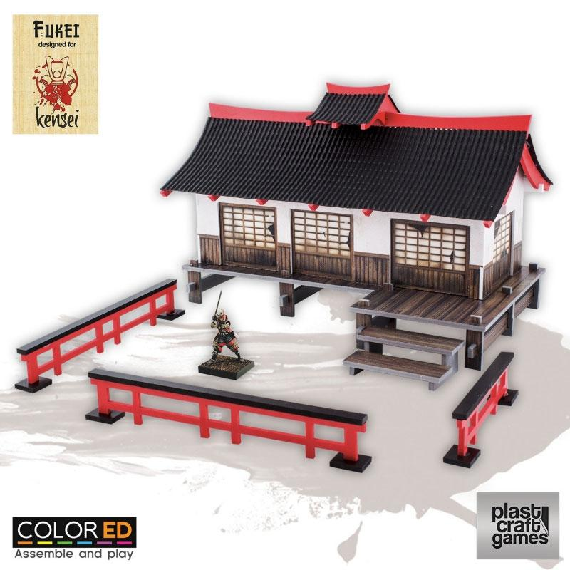Kensei ColorED Miniature Gaming Model Kit 28 mm Dojo