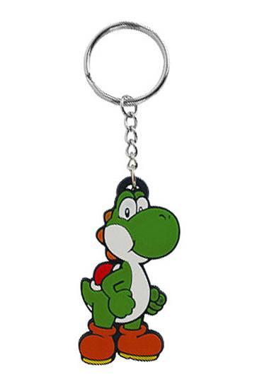Super Mario Bros. Rubber Keychain Yoshi 6 cm