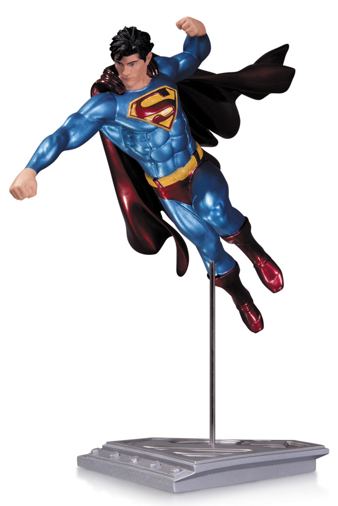 Superman The Man Of Steel Statue Shane Davis 21 cm --- DAMAGED PACKAGING