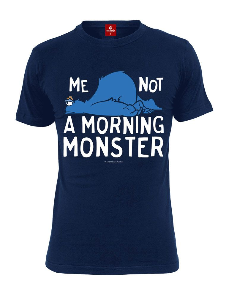 Sesame Street T-Shirt Me Not A Morning Monster Size M