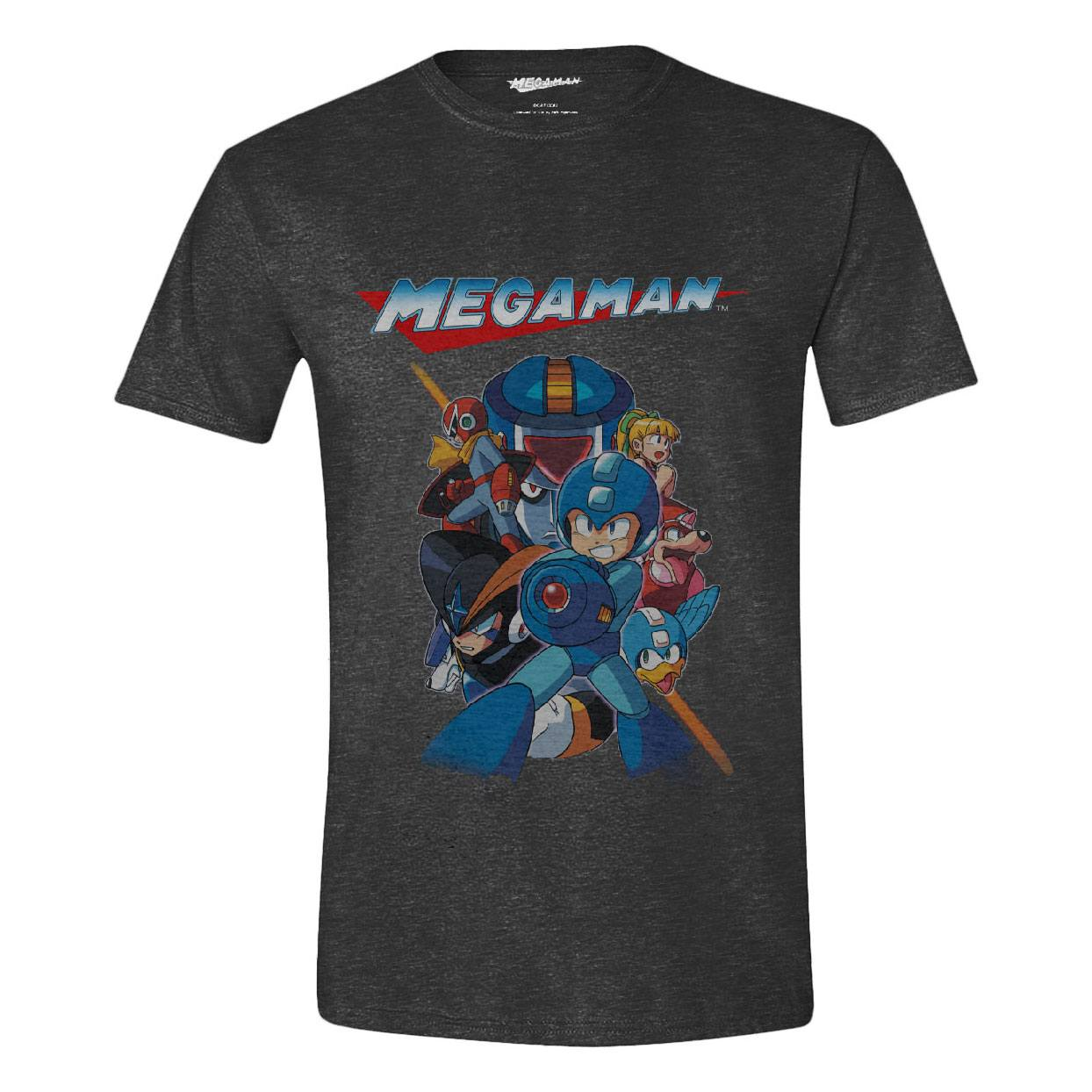 Mega Man T-Shirt Characters Battle Size L