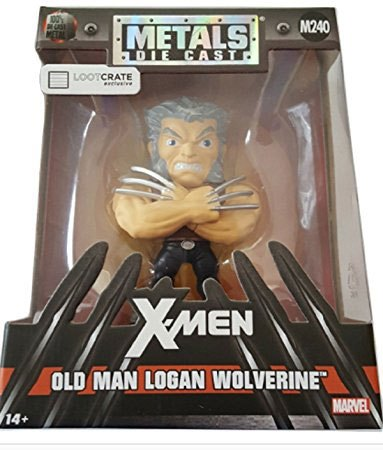 Marvel Comics Metals Diecast Mini Figure Wolverine Old Man Logan LC Exclusive 10 cm --- DAMAGED PACKAGING