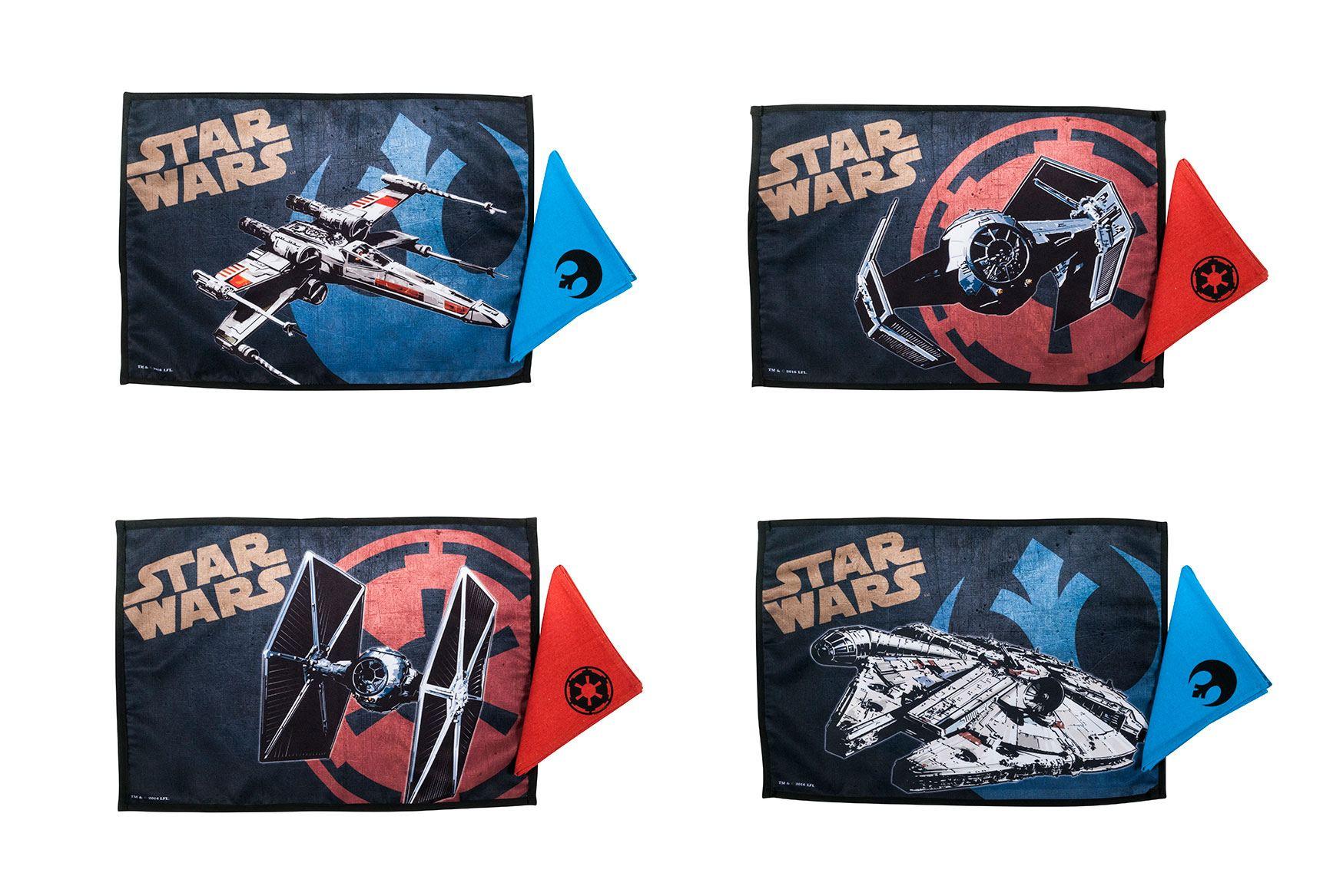Star Wars Placemats & Napkins Set Spaceships