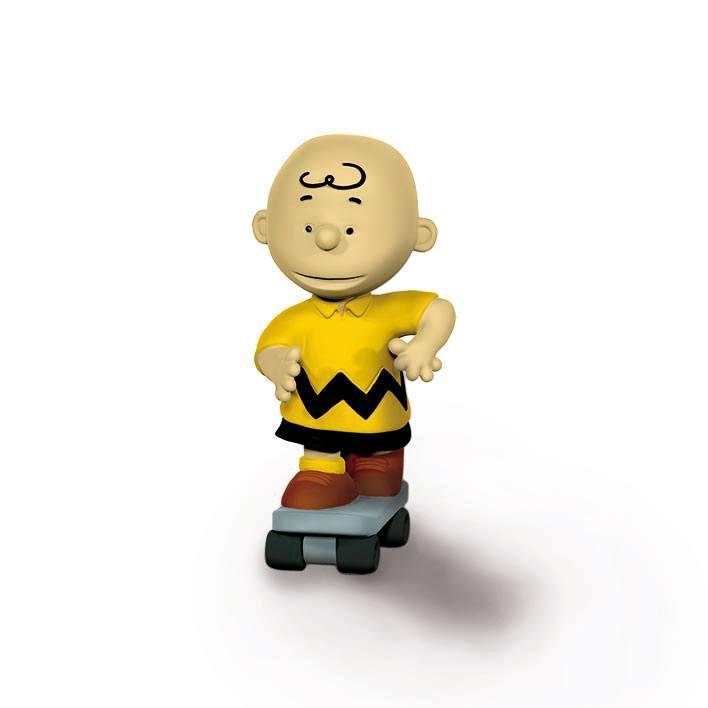 Peanuts Figure Skateboarder Charlie Brown 6 cm